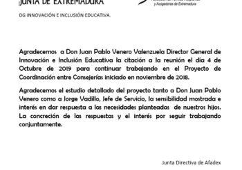 Agradecemos  a Don Juan Pablo Venero Valenzuela Director General de Innovación e Inclusión Educativa